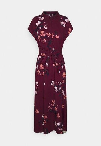 VMHALLIE LONG TIE DRESS - Shirt dress - dark red