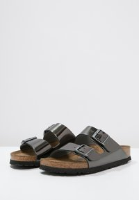 Birkenstock - ARIZONA - Slippers - metallic anthracite - 2
