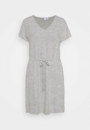 Jersey dress - marled grey heather