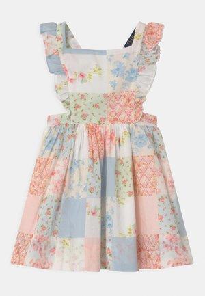 RUFFLE DRESS - Day dress - white/multicolour