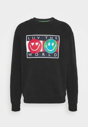 LUV THE WORLD CREW  - Sweatshirt - black