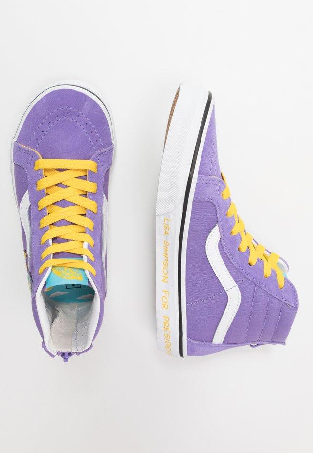 THE SIMPSONS SK8 ZIP - Vysoké tenisky - purple