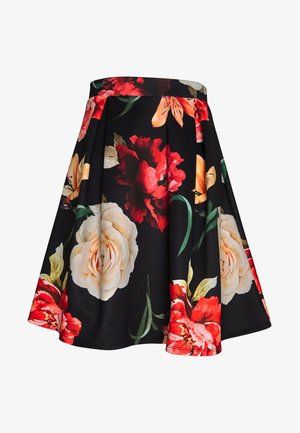 A-line skirt - red/black