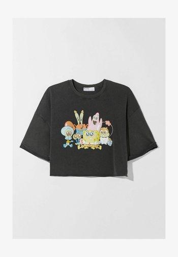SPONGEBOB  - T-shirt z nadrukiem - dark grey