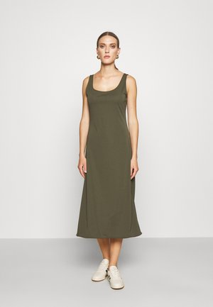 MATTE - Jersey dress - expedition olive