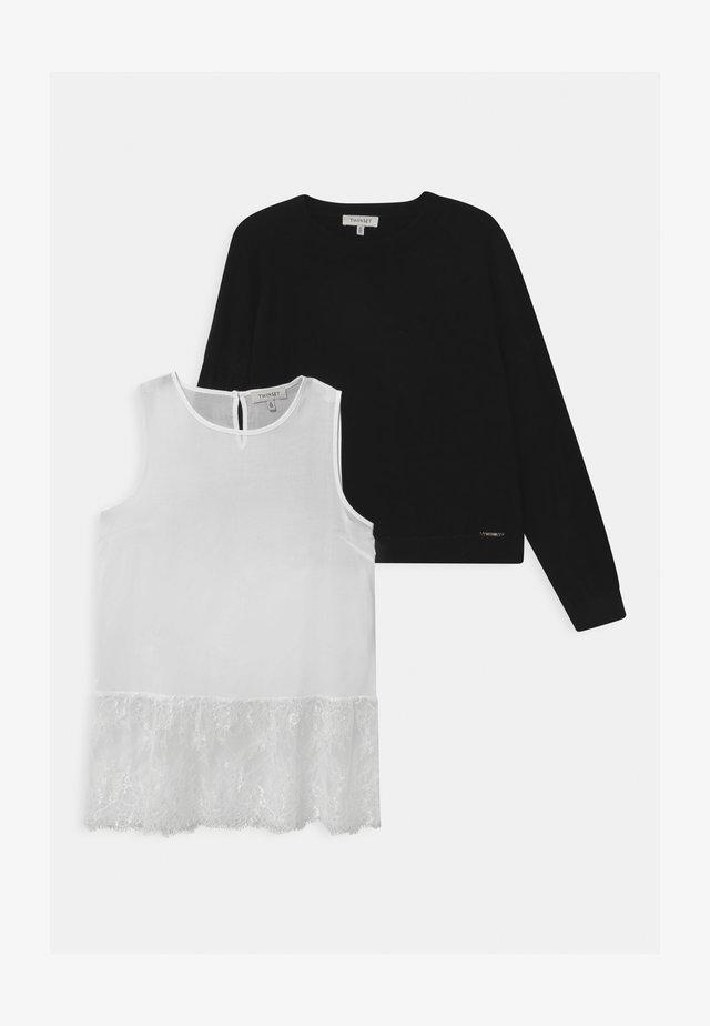 MAGLIA GIROCOLLO SET - Pullover - black