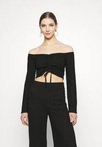 Nly by Nelly - DRAWSTRING SET - Jumper - black - 0