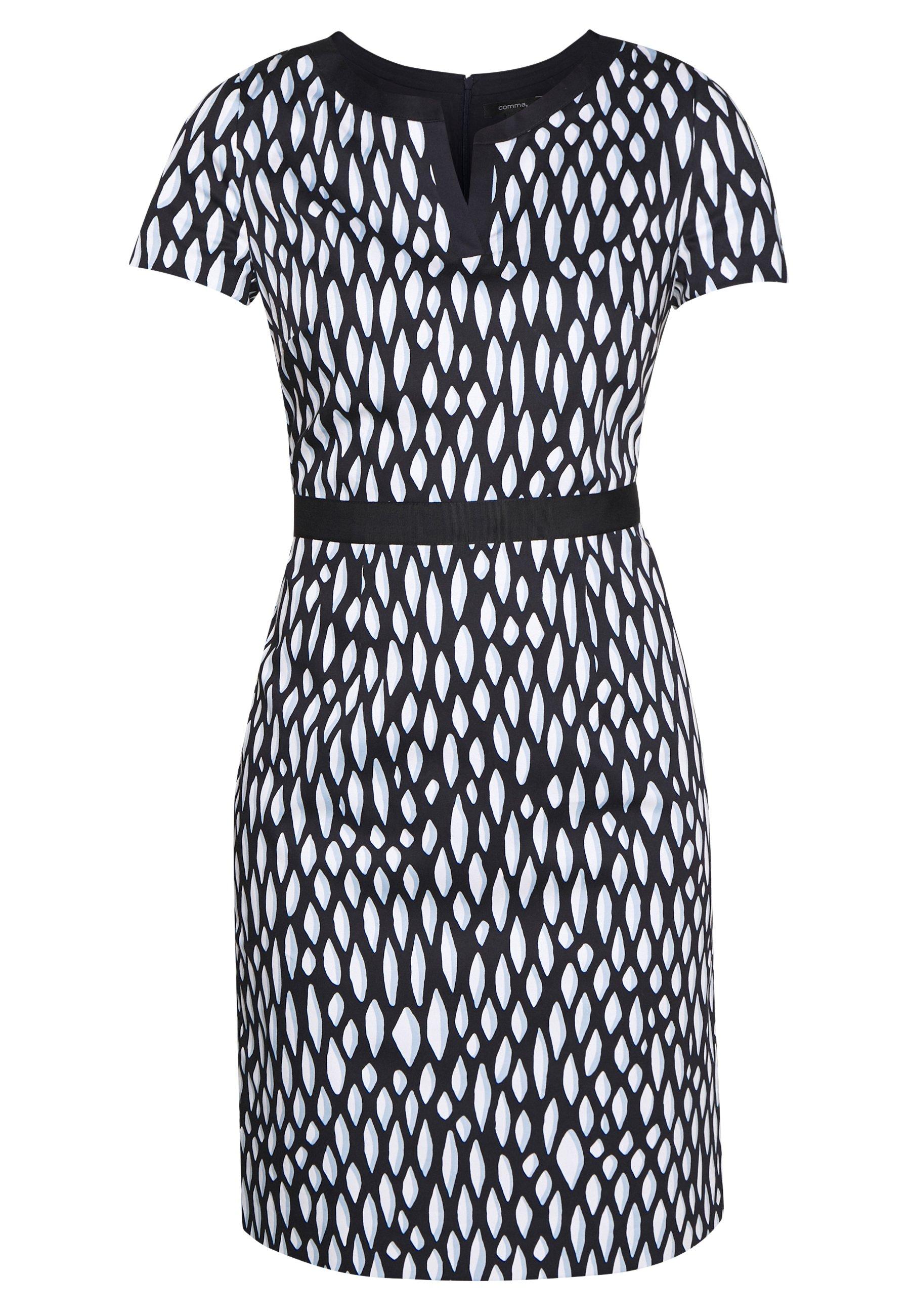 Comma Day Dress - Dark Blue