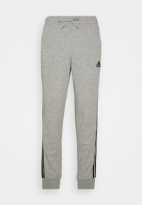 adidas Performance - Tracksuit bottoms - medium grey heather/black - 4