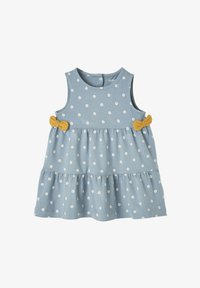 Vertbaudet - Day dress - blau getupft - 0