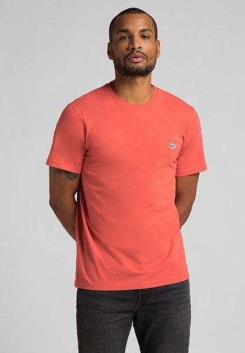 T-shirt basic - washed red