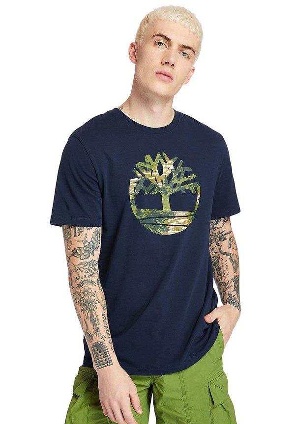 Timberland KENNEBEC - T-shirt z nadrukiem - dark sapphire/granatowy Odzież Męska GFNW