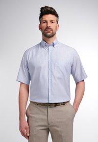 Eterna - COMFORT FIT - Shirt - helllblau/weiss - 0