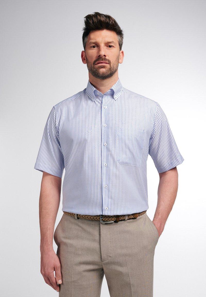 Eterna - COMFORT FIT - Shirt - helllblau/weiss