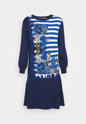 DRESS - Pletené šaty - blue