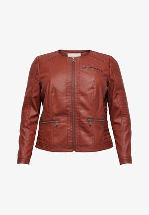 CAROKRA  - Faux leather jacket - fired brick