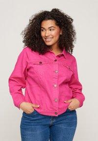 Zizzi - Denim jacket - pink - 0