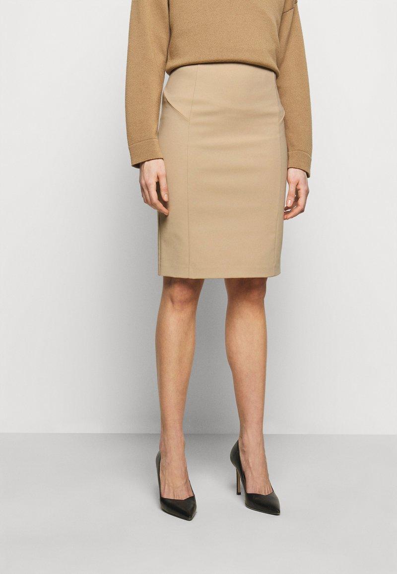 Patrizia Pepe - GONNA SKIRT - Pencil skirt - triking beige