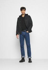LTB - 3 Pack - Basic T-shirt - black/ olive/ grey melange - 1