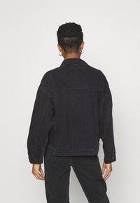 Monki - BONNIE JACKET - Denim jacket - black dark - 2