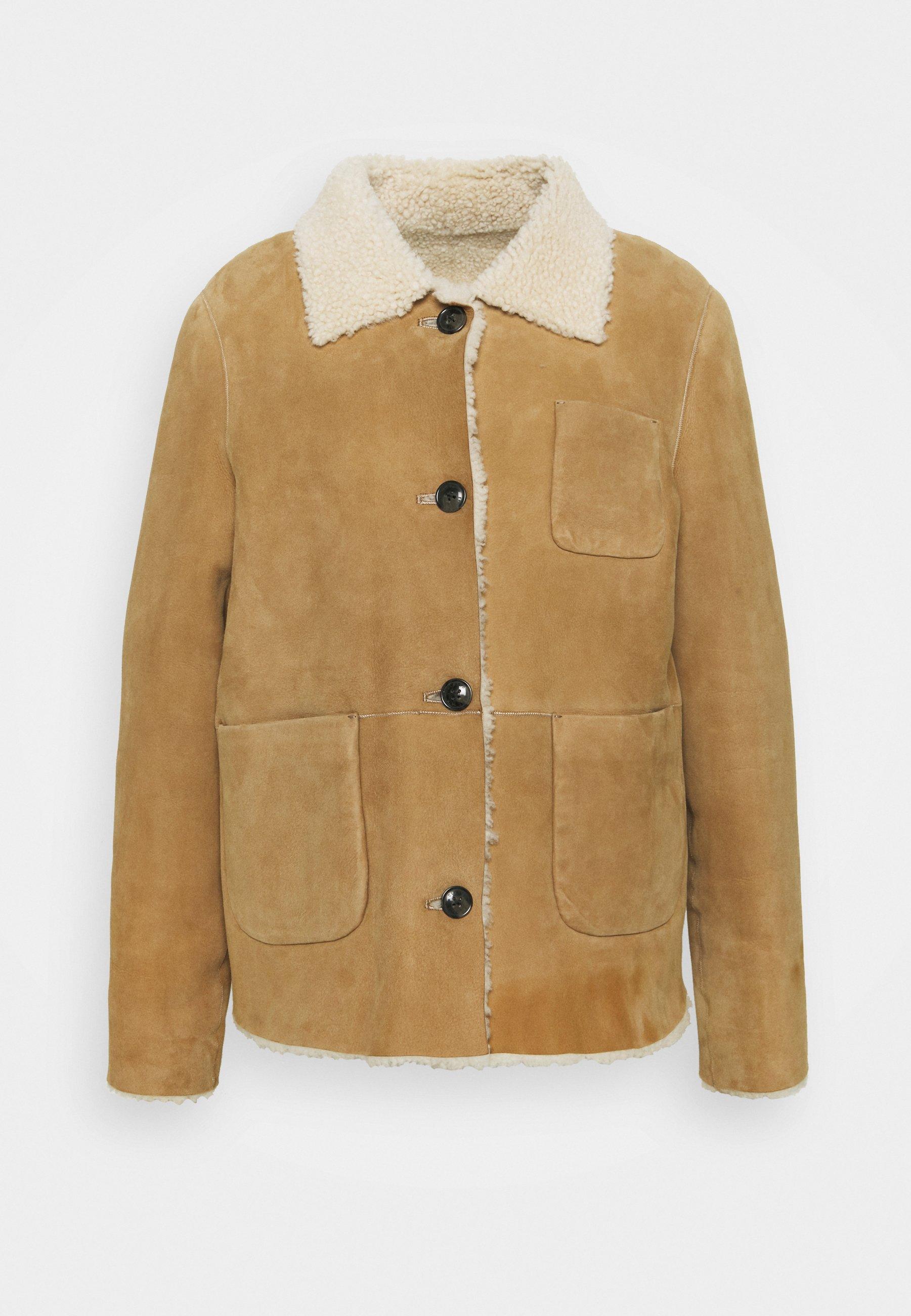 Women WILLOW SHEARLING JACKET - Leather jacket