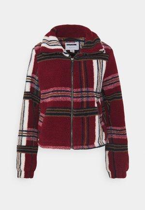NMNICHELA JACKET - Fleece jacket - bordeaux