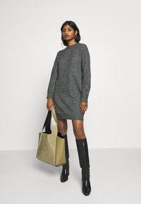 Zign Petite - Gebreide jurk - dark grey melange - 1