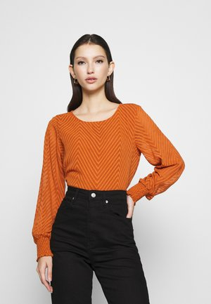 ONLANNELENA O NECK  - Long sleeved top - ginger bread