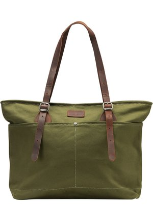 DREIMASTER SHOPPER - Tote bag - oliv braun