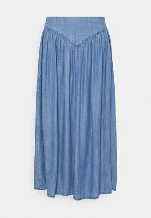 BYLANA LONG SKIRT  - Spódnica plisowana - mid blue denim