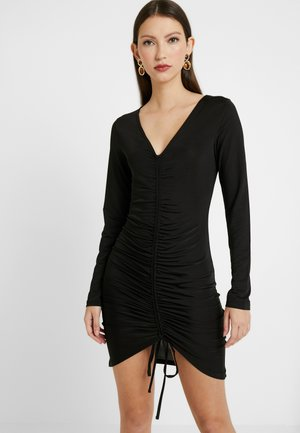 DRAWSTRING SLINKY DRESS - Cocktail dress / Party dress - black