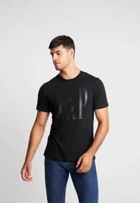GAP - CORP LOGO - Print T-shirt - true black - 0