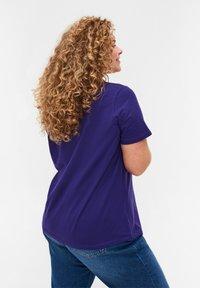 Zizzi - Basic T-shirt - purple - 2