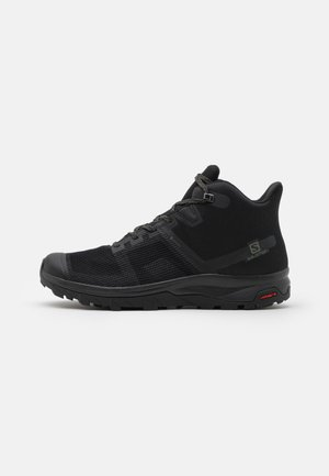 OUTLINE PRISM MID GTX - Hiking shoes - black/castor gray
