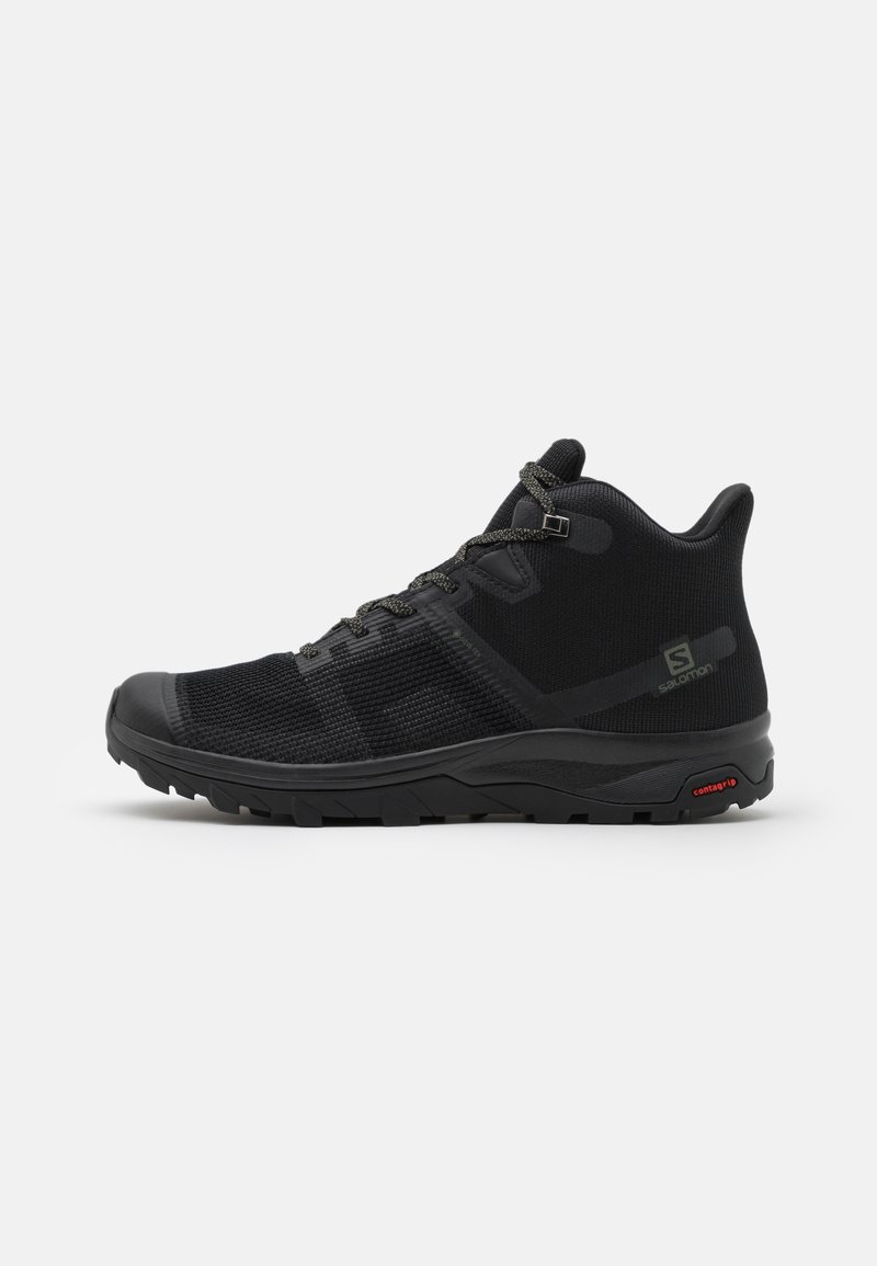 Salomon - OUTLINE PRISM MID GTX - Outdoorschoenen - black/castor gray