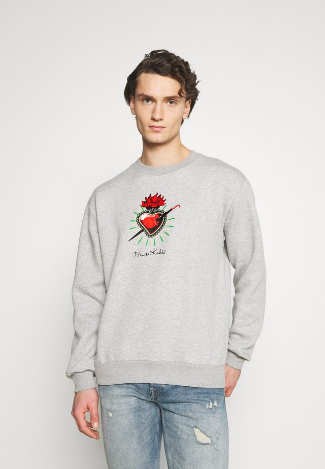 FREDA KAHLO HEART CREW - Sweater - grey marl