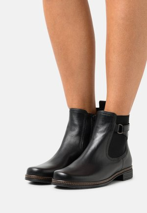 Korte laarzen - schwarz/altsilber