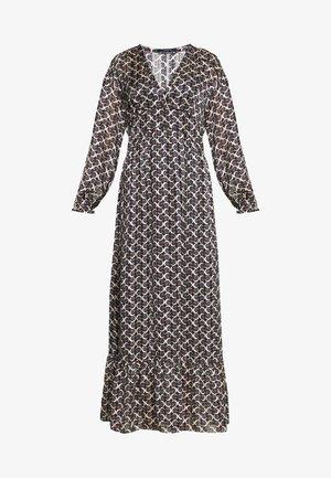 SHEER FEMININE MAXI DRESS WITH ALLOVER PRINT - Vestido largo - black/off-white