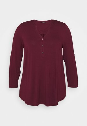 Long sleeved top - wine