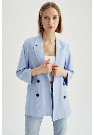 OVERSIZED - Short coat - blue