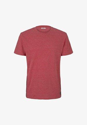 Camiseta básica - plain red grindle melange