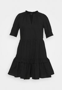 J.CREW PETITE - KRISTY DRESS SOLID - Korte jurk - black - 0