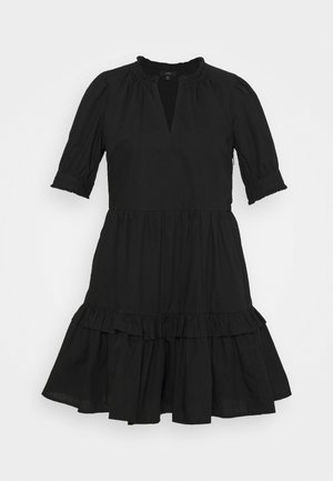 KRISTY DRESS SOLID - Freizeitkleid - black