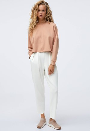 CROPPED - Sweatshirt - coral