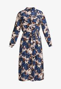 VMLIANA CALF DRESS - Skjortekjole - black/blue liana