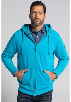 Sweater met rits - turquoise clair