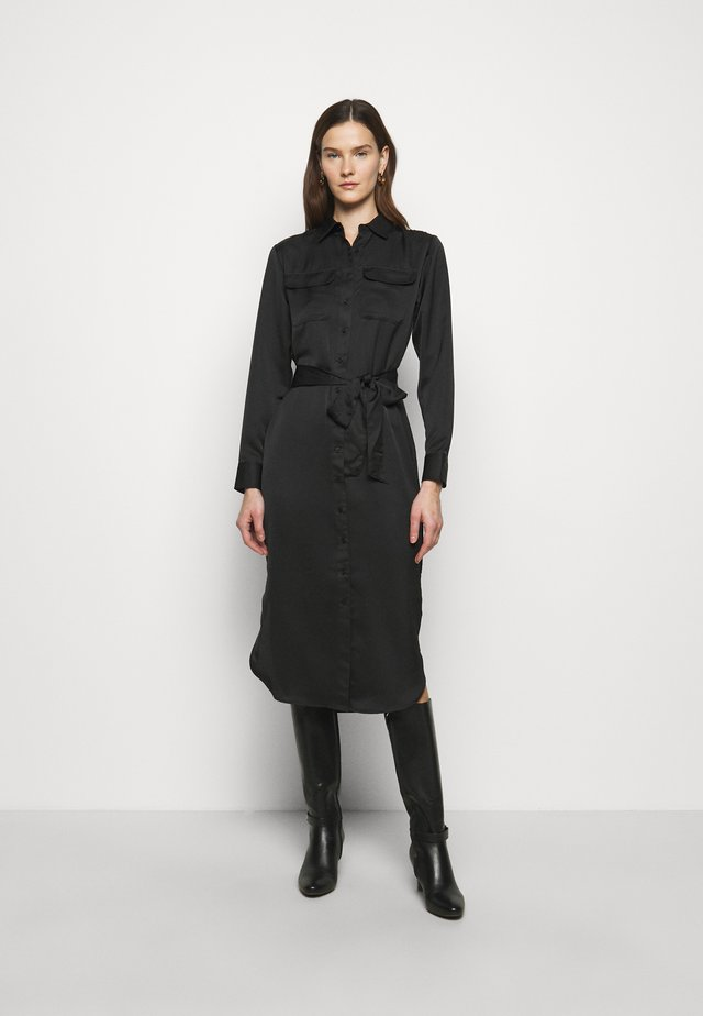 CHARM DRESS - Shirt dress - black