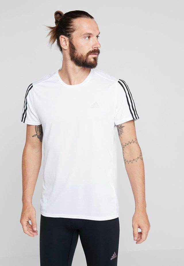 RUN 3S TEE - T-shirt imprimé - white/black
