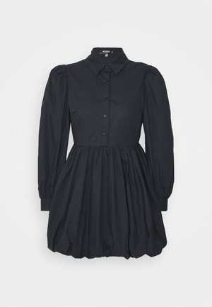 PUFF DRESS  - Shirt dress - black