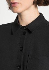 Marc O'Polo - OVERSHIRT LONG - Button-down blouse - black - 4
